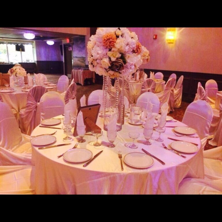 white and white table settings