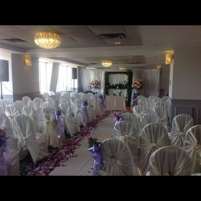 purple petals in the mezzanine